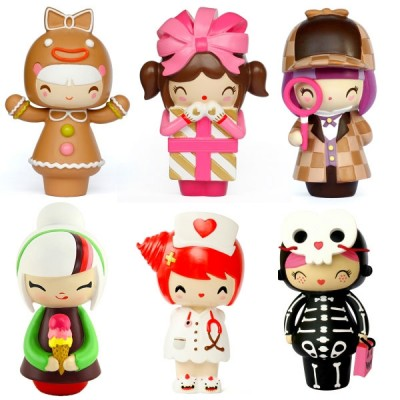 Buy Momiji Random Doll: Poppet - Momiji Random Doll: Poppet - Momiji are message dolls, inside each one there's a teeny folded card for your own message, dream or wish. Poppet is hand-painted and packaged in a candy colored noodle box.