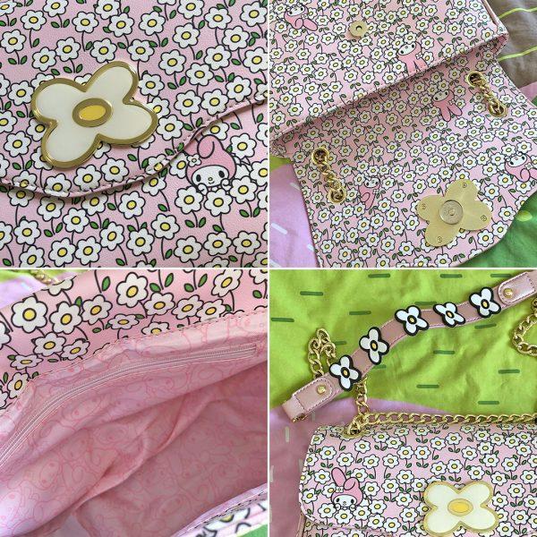 Sanrio Loungefly My Melody Flower Field Crossbody Bag