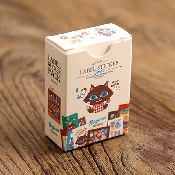 kawaii stationery - label stickers box
