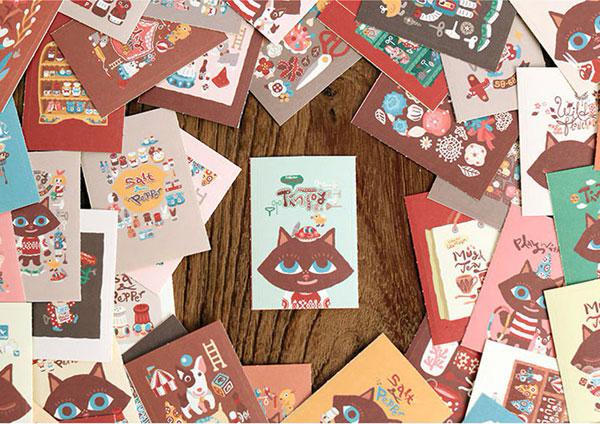 kawaii stationery - cat stickers