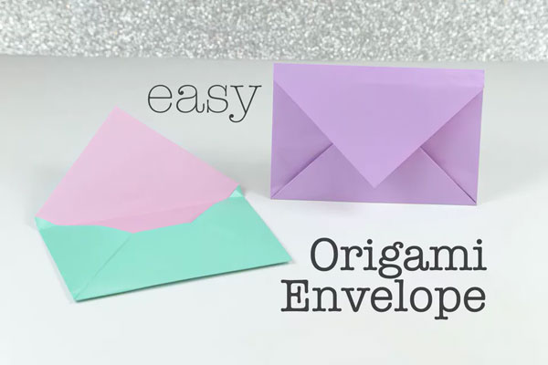 on how to make an origami envelope.