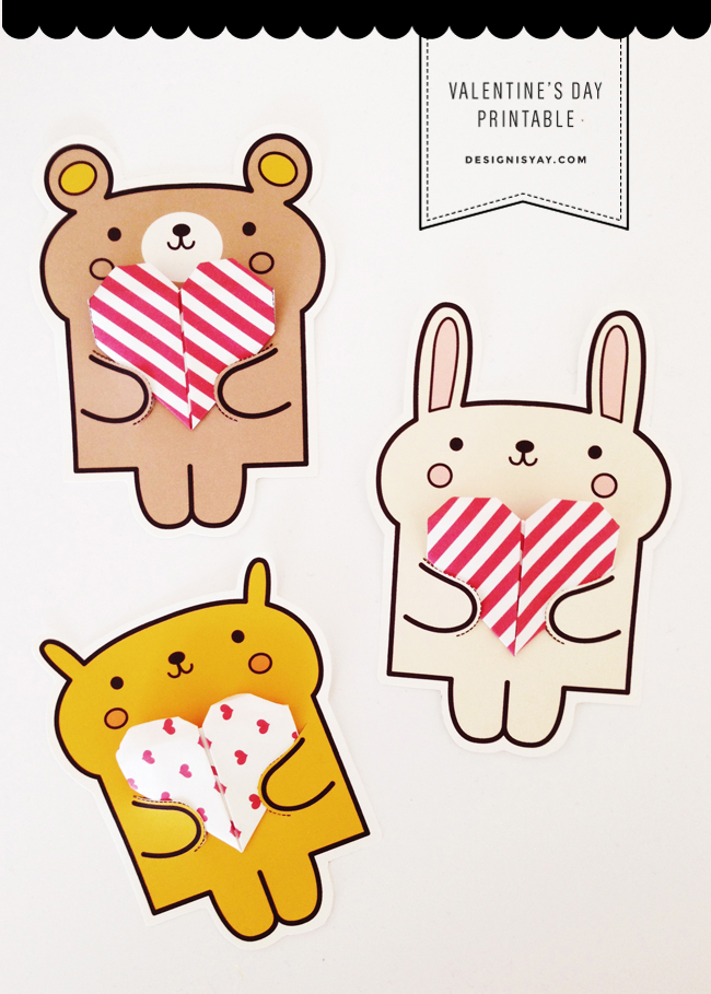 last minute printable valentine's day cards - super cute kawaii!!, Ideas
