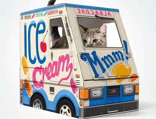 Famous OTO ice cream truck for cats