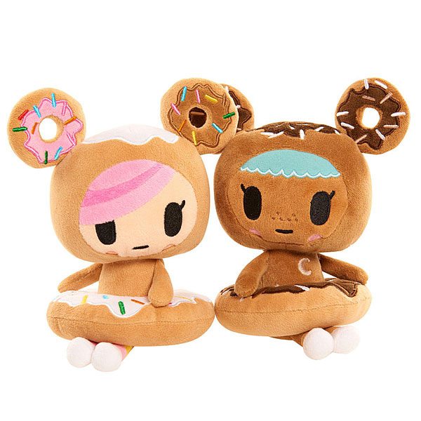 Tokidoki Donutella and Chocolate plushies