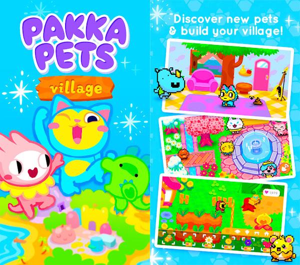 kawaii mobile games - Pakka Pets Village