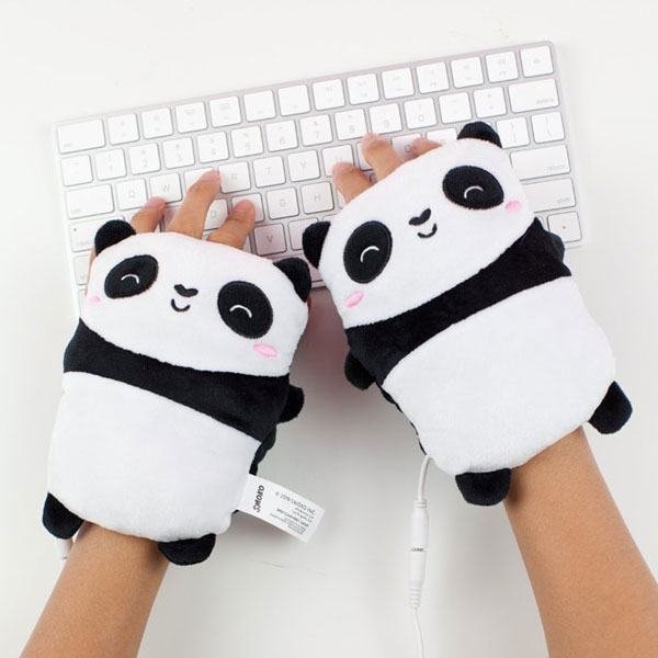 cute cosy panda hand warmers