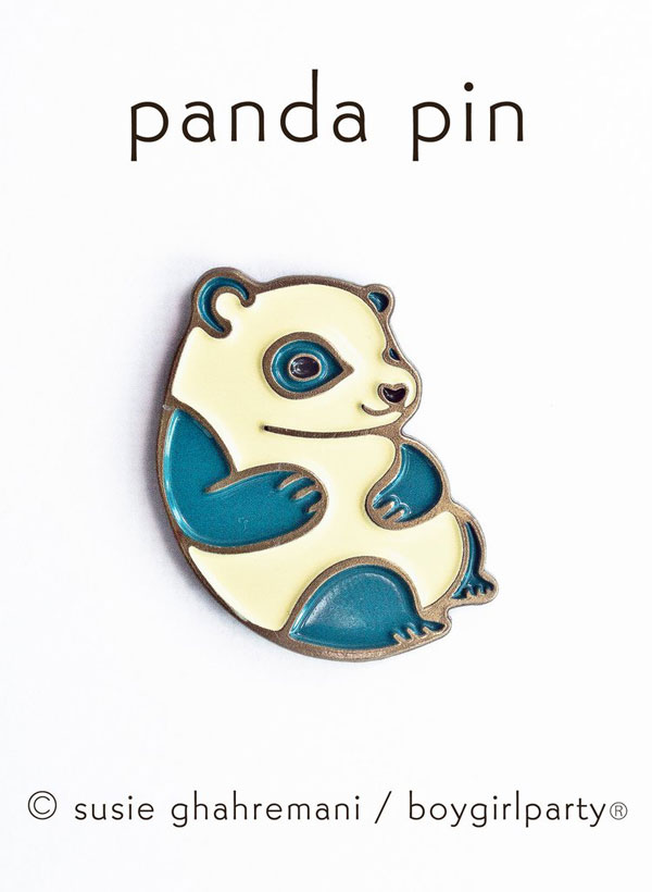 boygirlparty kawaii panda enamel pin