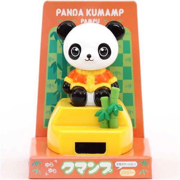 kawaii desk accessories panda solar powered toy