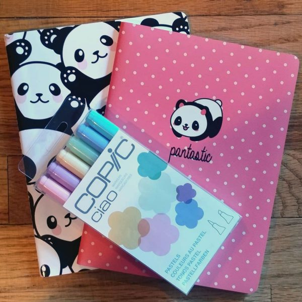 kawaii panda notebooks