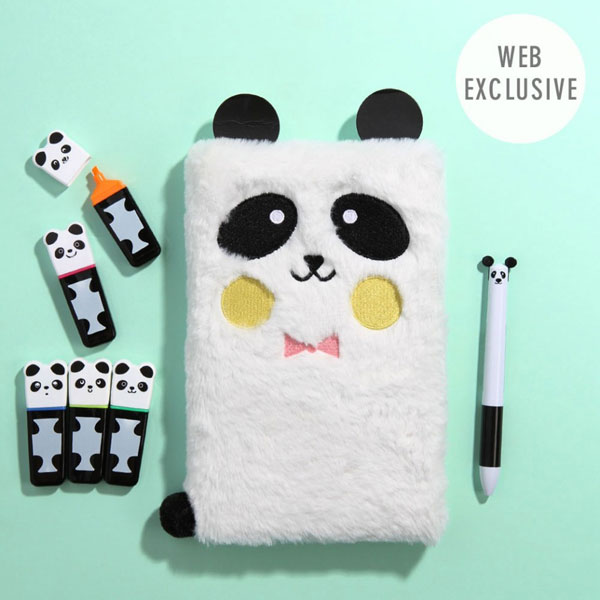 Back To School Kawaii Stationery - plush panda notebook