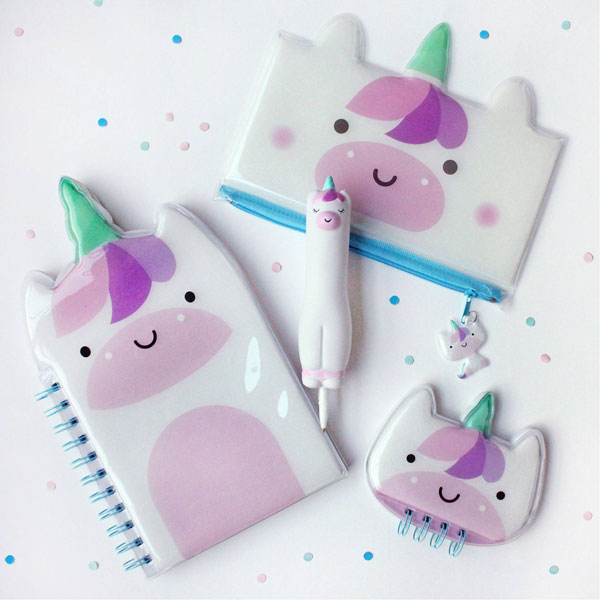 Squishy Friends Kawaii Stationery - unicorns