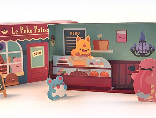 Kawaii Papercraft Matchbox Diorama - Pokemon