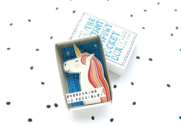 Kawaii Papercraft Matchbox Diorama - unicorn