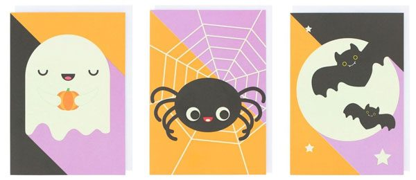 Glow In The Dark Kawaii Halloween cards