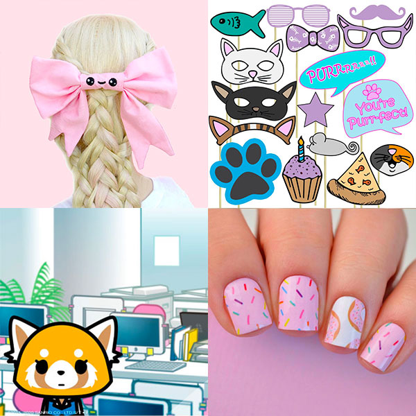kawaii birthday party accessories