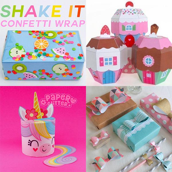 kawaii birthday gift wrapping