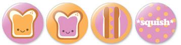 peanut butter button set