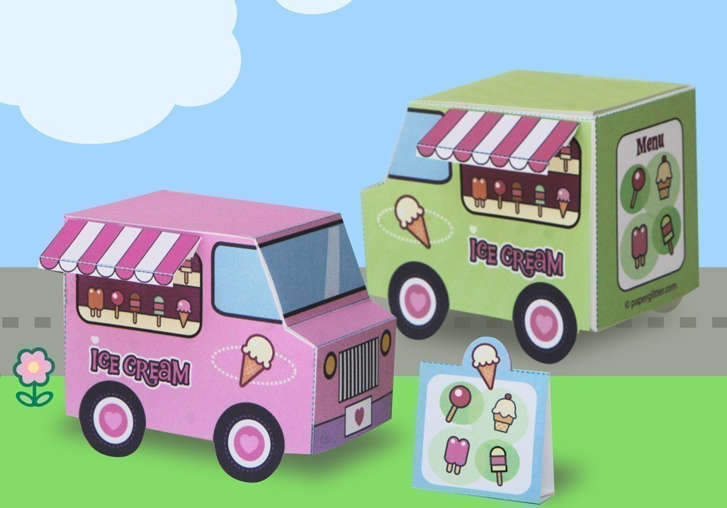 Make your own ice cream truck super cute kawaii make your own ice cream truck ccuart Choice Image