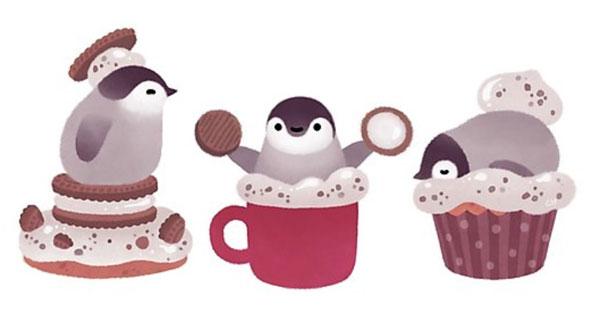pikaole penguin kawaii art print