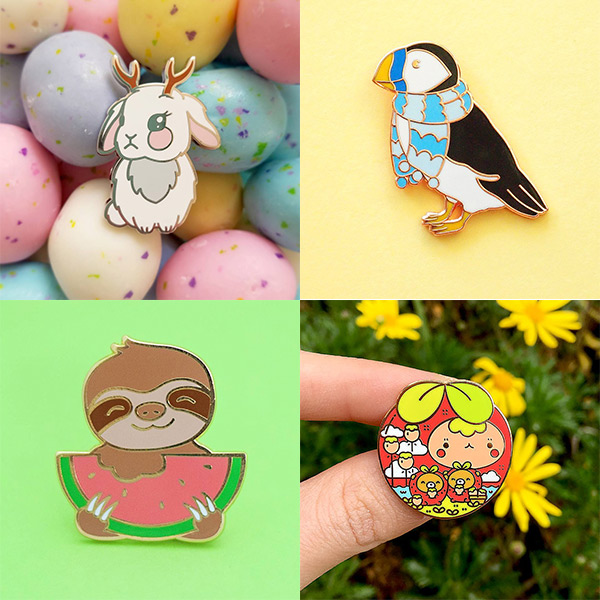 kawaii discounts - enamel pins