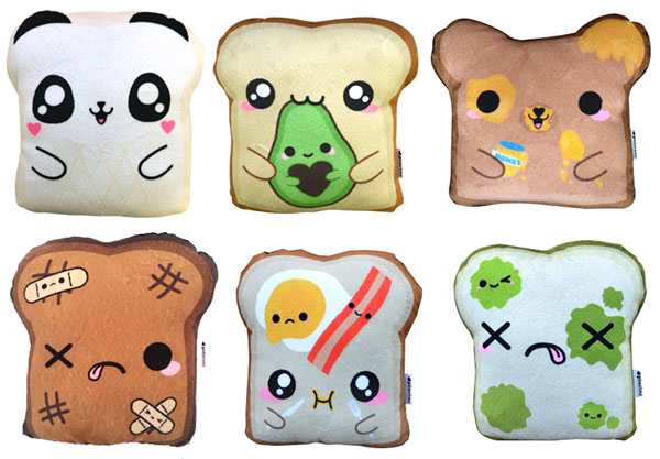 pincinc kawaii bread plush