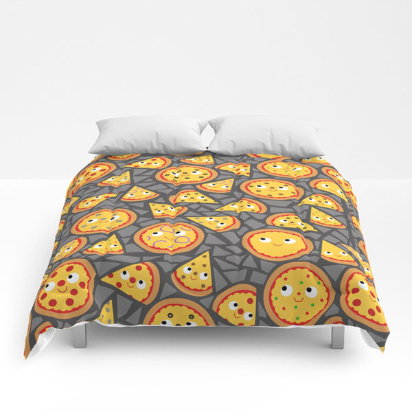 cute comforters kawaii pizza