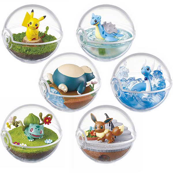 Re-Ment Pokemon terrariums