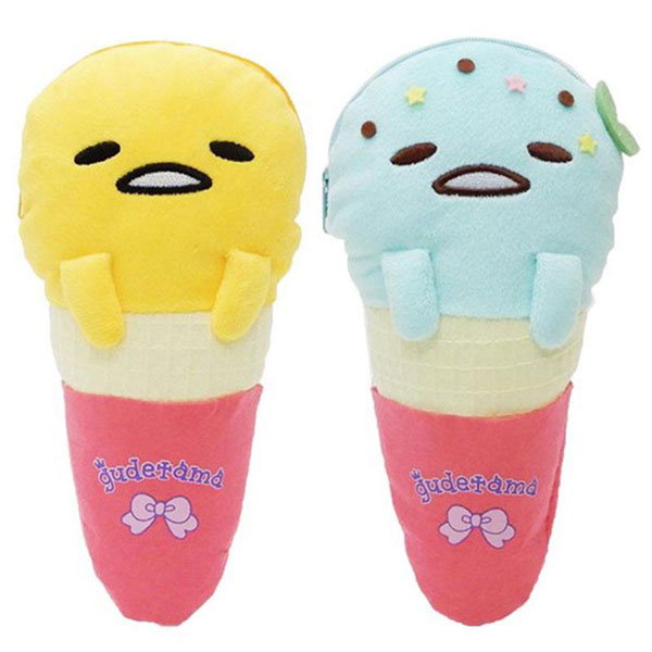 Gudetama kawaii plush ice cream pouch