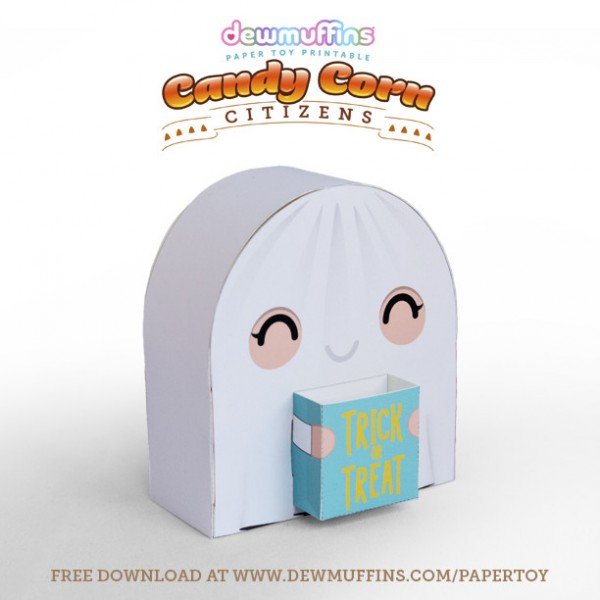 printable ghost paper toy