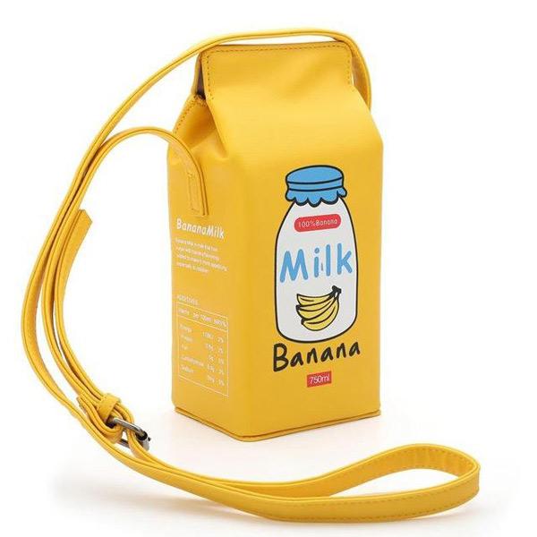 banana milk kawaii bags
