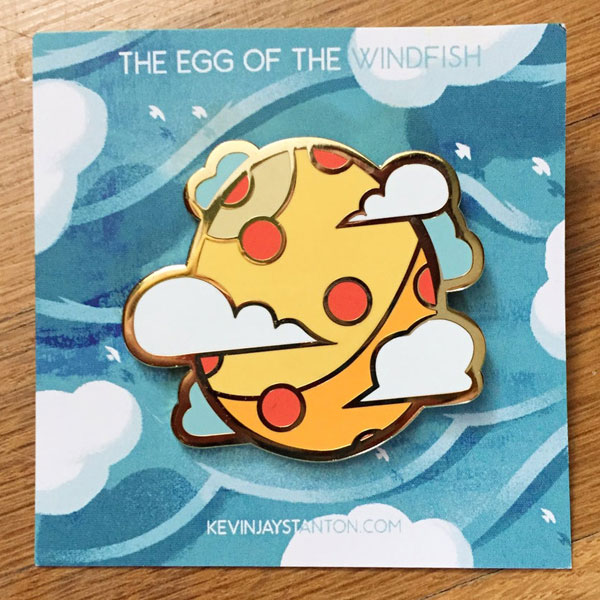 Link's Awakening wind fish enamel pin