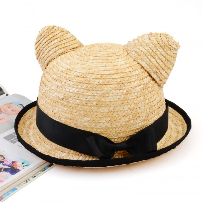 cat straw hat