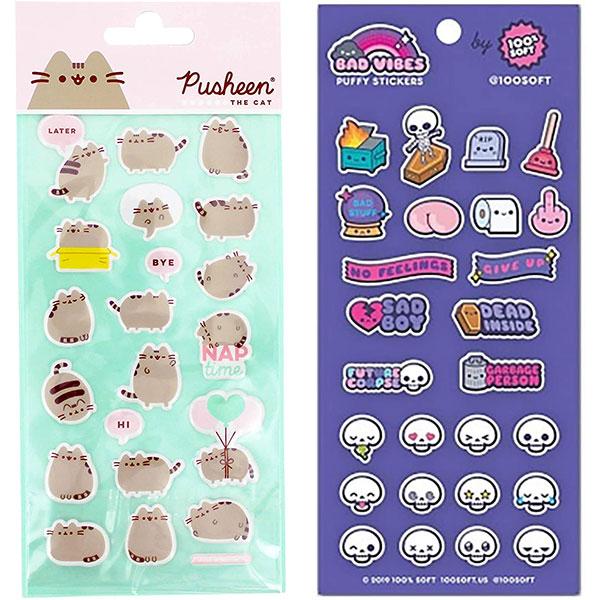 kawaii puffy stickers