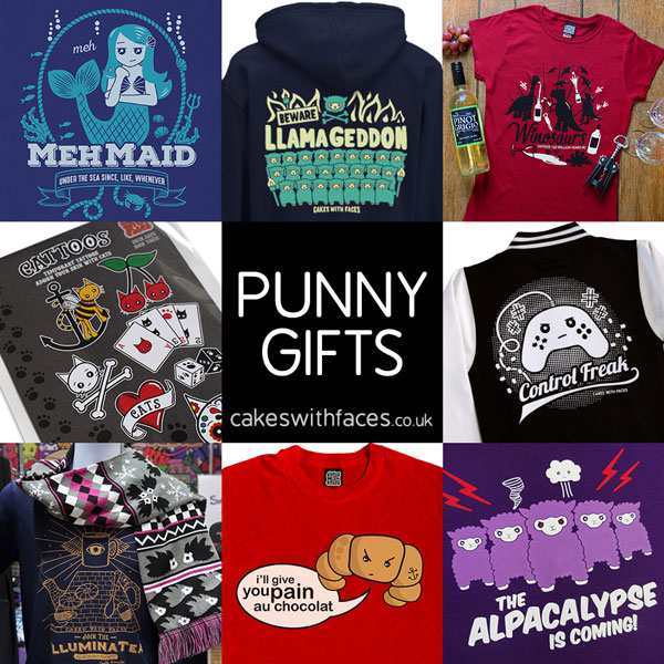 punny gifts and t-shirts
