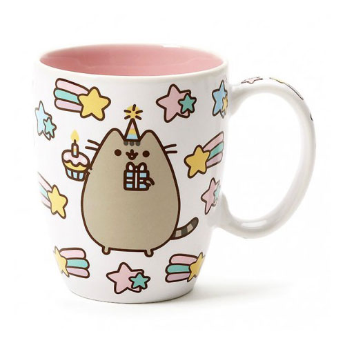 kawaii pusheen birthday mug