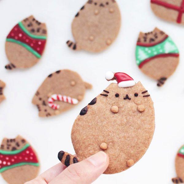 Kawaii Christmas recipes - Pusheen cookies