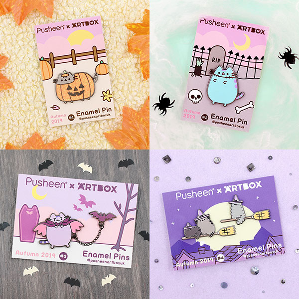 New ARTBOX x Pusheen Enamel Pins