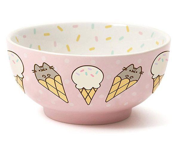 kawaii birthday pusheen ice cream bowl