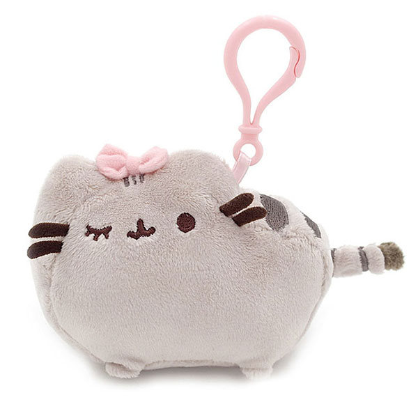pusheen plush bag clip