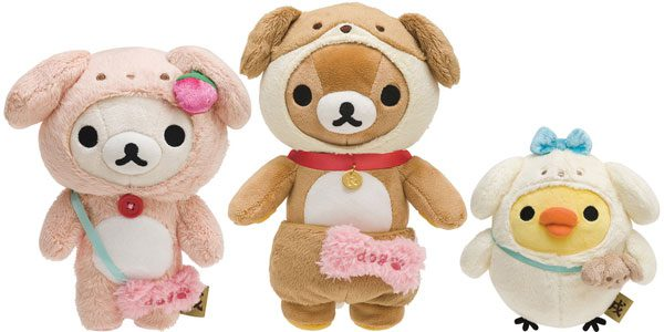 rilakkuma kawaii dog plush