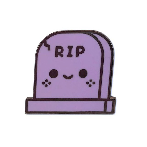 kawaii RIP enamel pin