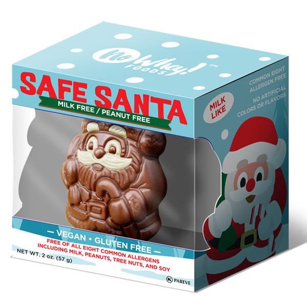 vegan gifts - chocolate santa
