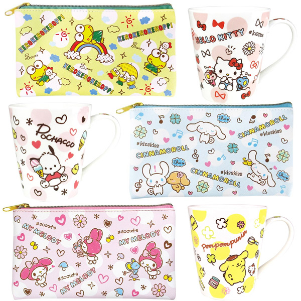 kawaii sanrio mugs pouches