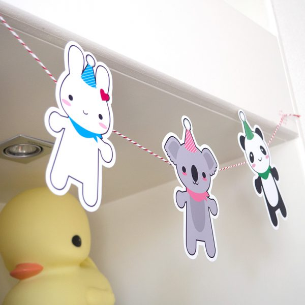 super cute kawaii free printable garland