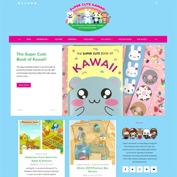 super cute kawaii homepage