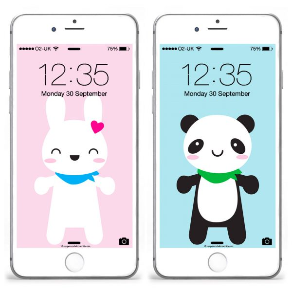 Super Cute Kawaii Mascots Wallpapers Set