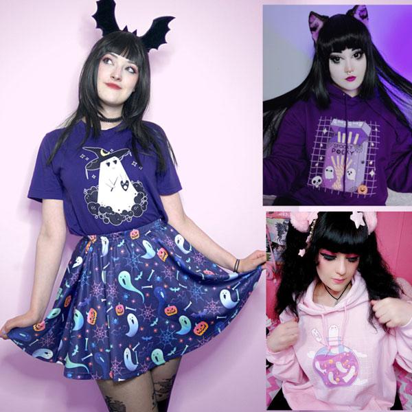 kawaii halloween clothing