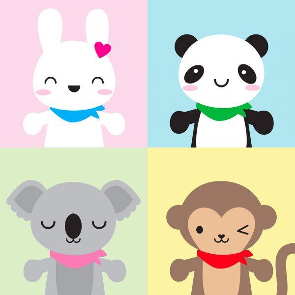 Super Cute Kawaii mascots