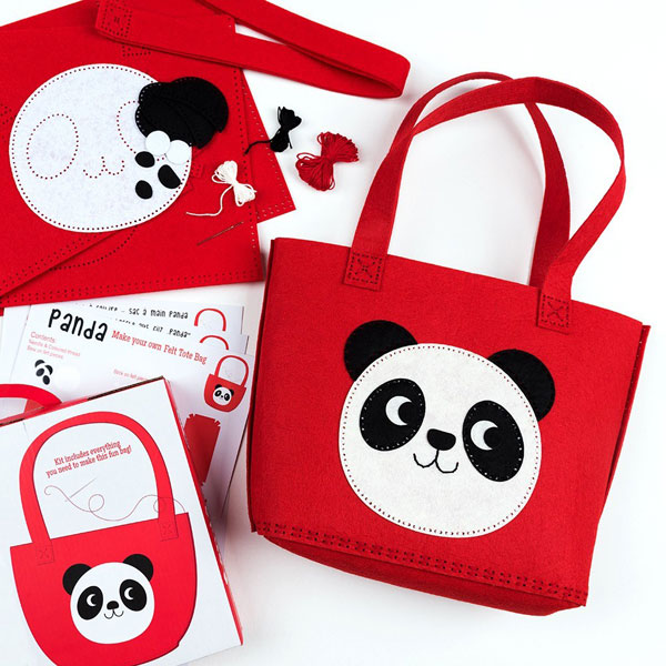 kawaii panda diy bag craft kit