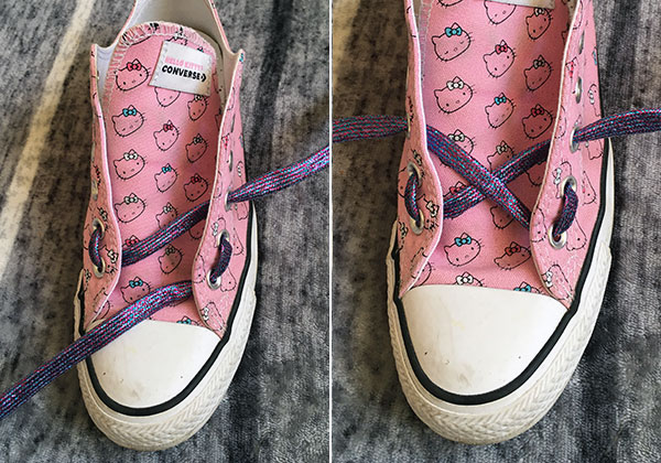kawaii shoelace styling tutorial